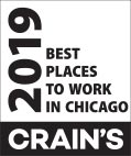 2019 Crains Best Places to work in Chicago