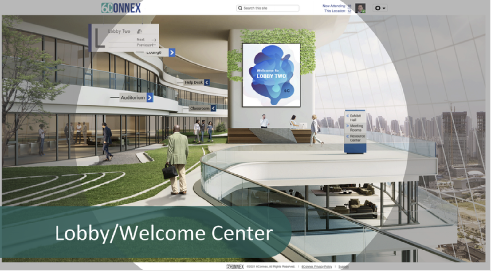 Welcome Center for Virtual Event